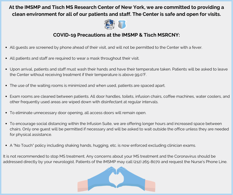 Coronavirus Covid 19 Comprehensive Update Page Tisch Ms Research Center Of New York